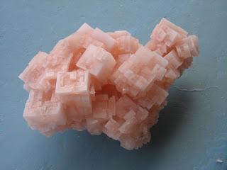 Cristais de halita rosa da Minas de sal, Pedra de Lume