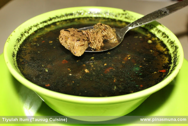 Tausug dish called Tiyulah Itum or Tiula Itum or Black Soup
