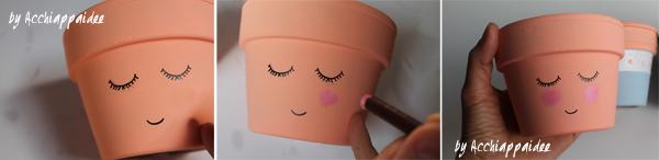 tutorial due - dettagli dipinti sui vasi terracotta