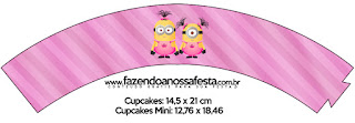 Wrappers para cupcakes de Minions Chicas.