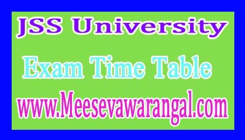 JSS University BDS Tentative Practical Dec/Jan 2016-17 Exam Time Table