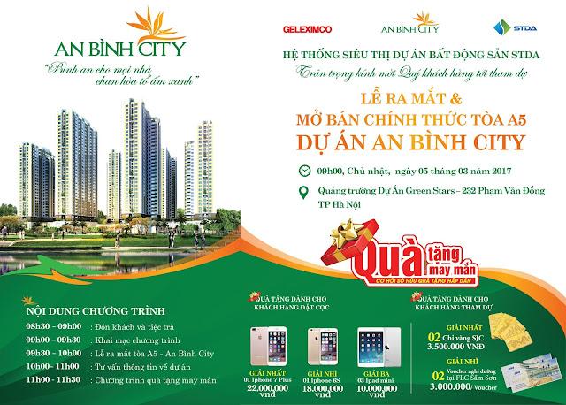 Thư mời mở bán chung cư An Bình City
