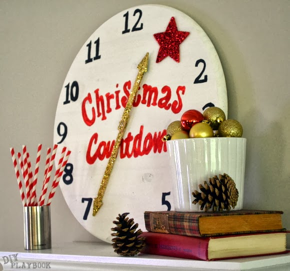 clock to countdown to christmas tutorial