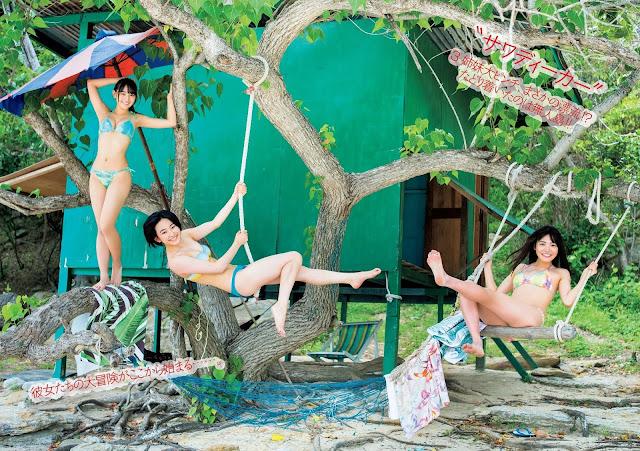 Matsunaga Arisa 松永有紗 Saotome Yu 早乙女ゆう Asakawa Nana 浅川梨奈 in Thailand Wallpaper HD 01