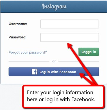 How to Log in Instagram With Facebook