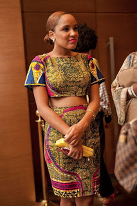 Ankara Crop Top And High Waist Skirt