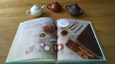 Auch verschiedene Tee-Zeremonien wie Gong Fu Cha werden reich bebildert teils auf Doppelseiten vorgestellt.