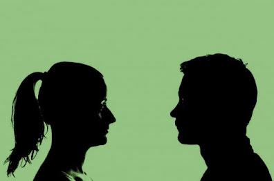 Man Woman Eye Gazing