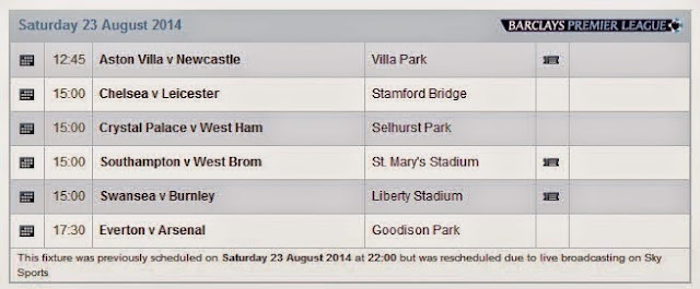 Jadwal Barclays Premier League