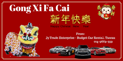 Gong Xi Fa Cai from J3 Tawau Car Rental