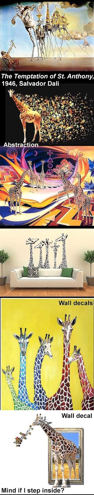Art Now and Then: Giraffe Art
