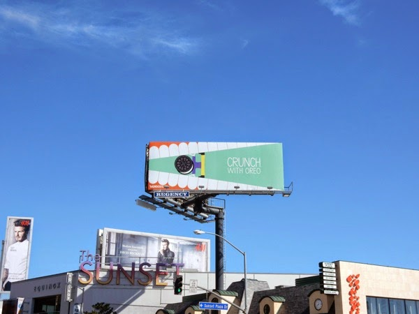 Crunch with Oreo billboard