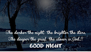 Beautiful Motivational Quote with good Night Image