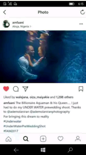 Underwater Aquaricious Pre-Wedding Photoshoot