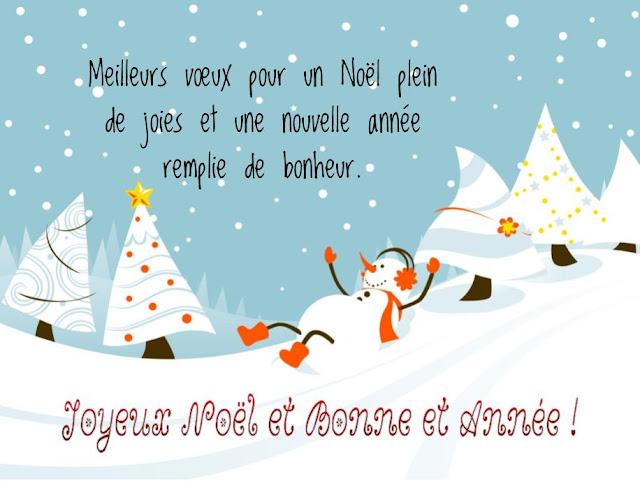 Carte de souhaits de joyeux noël et bonne année