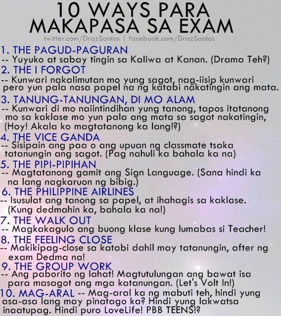 Learn with Us: 10 ways para makapasa sa Exam