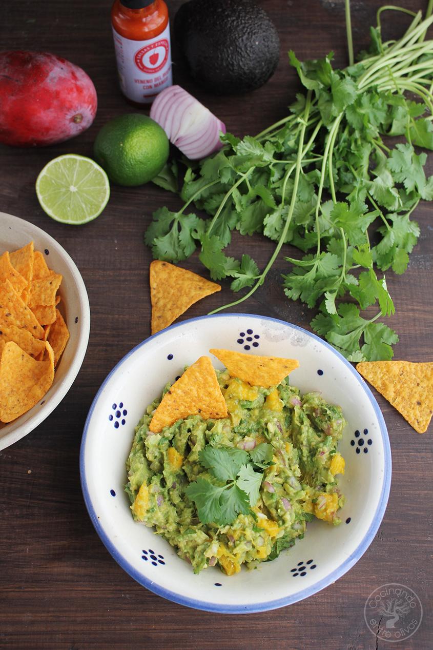 Cocinando entre olivos aperitivo o dip de aguacate y for Cocinar con mango