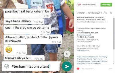 Armita Consultant Konsultasi Nama Bayi
