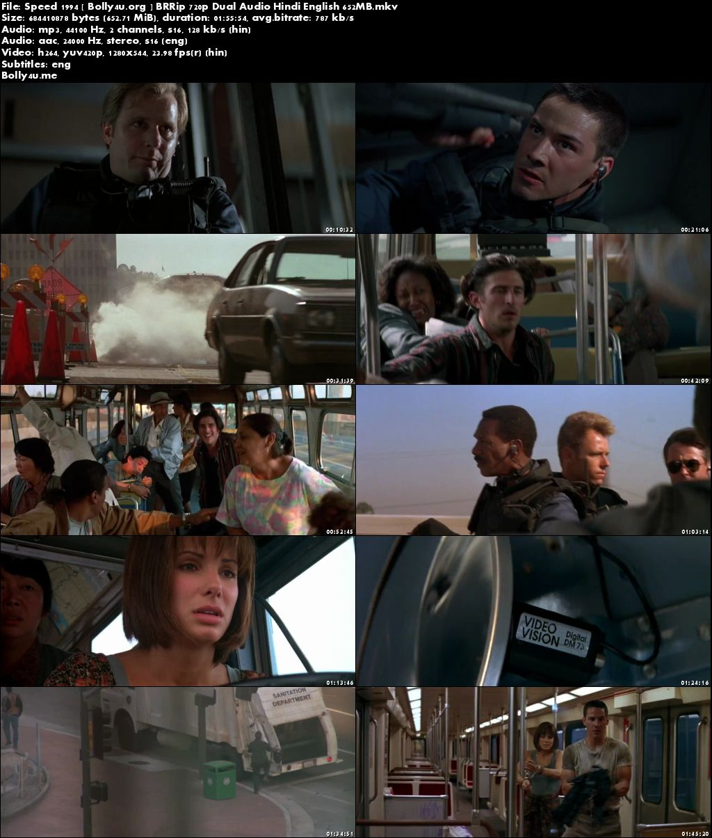 Speed 1994 BRRip 350MB Hindi Dual Audio 480p Download