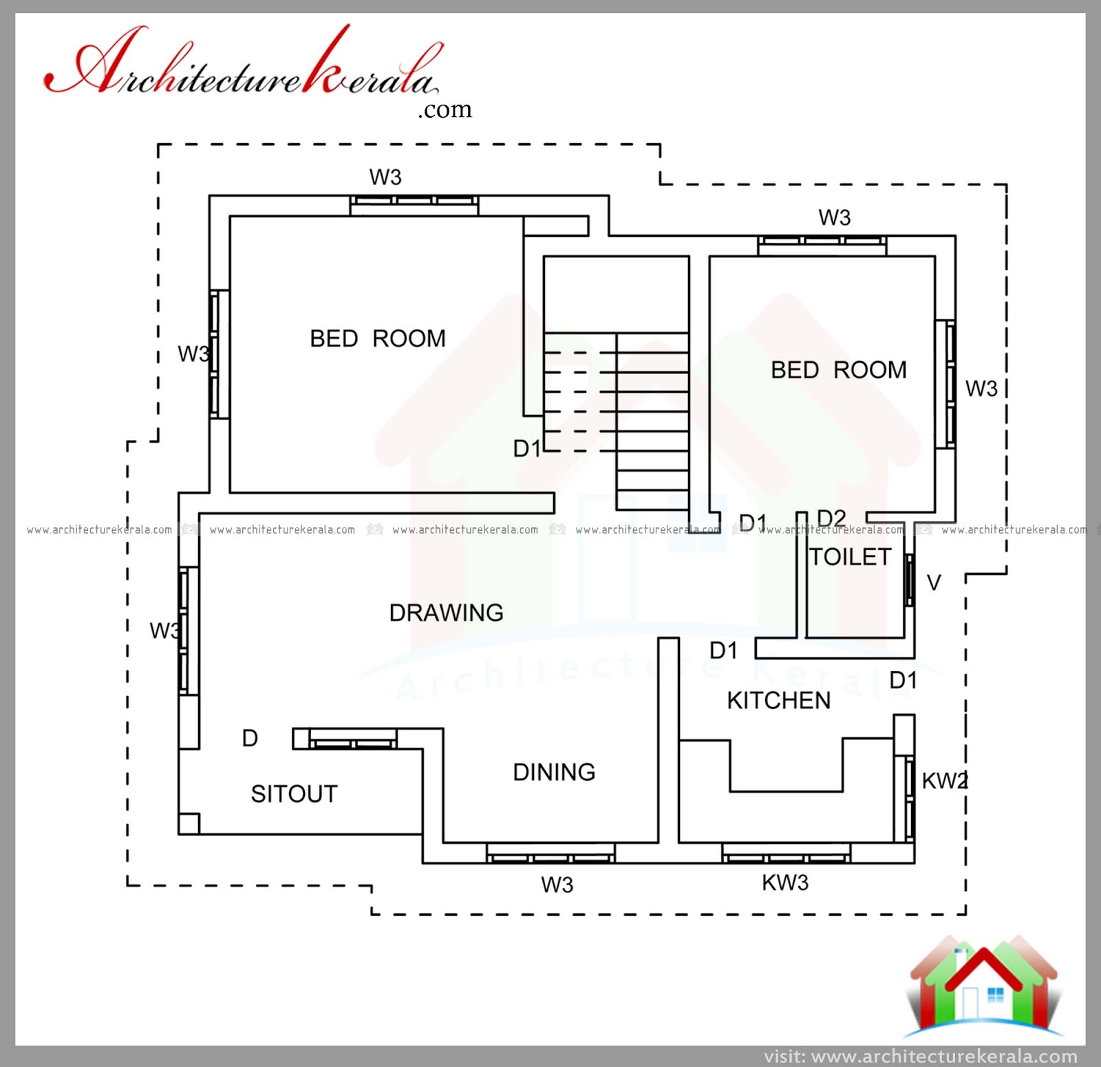 700 sqft plan and elevation for middle class family for Www kerala house plan free