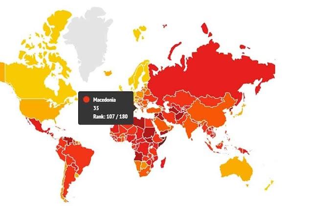 Korruptionsindex: Mazedonien mit Rekordtief