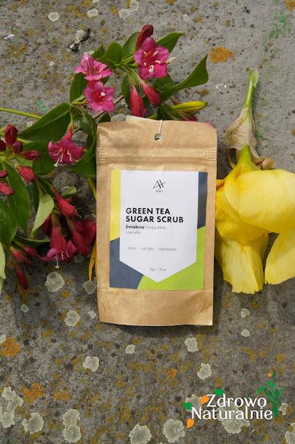 Achae- Peeling do ciała - Kawowy peeling waniliowy oraz peeling z zieloną herbatą