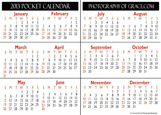 pocket schedule template - photography blography 2013 folding pocket calendar template