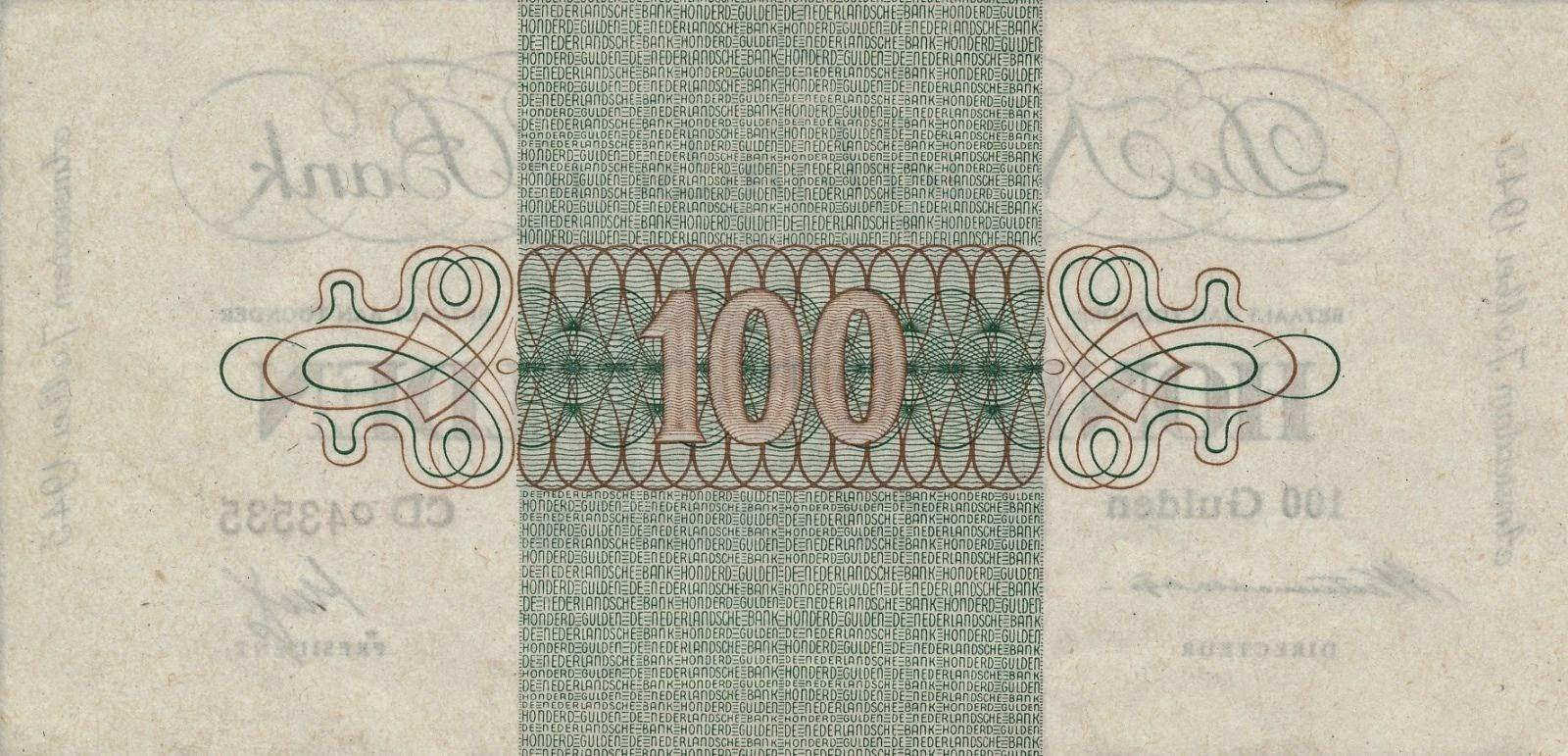 Netherlands 100 Gulden 1945