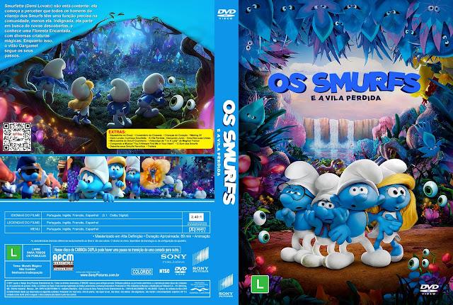 Capa DVD Os Smurfs e a Vila Perdida [Custom]