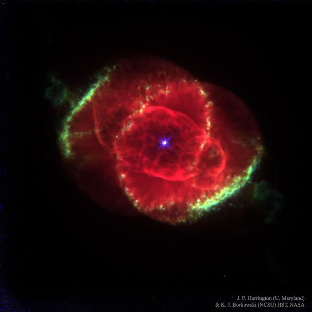 Hình ảnh Tinh vân Mắt mèo. Tác giả : J. P. Harrington (U. Maryland) & K. J. Borkowski (NCSU) HST, NASA.