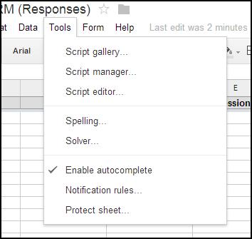 "Make sure the ""Tools"" menu has a ""Script gallery"" option."