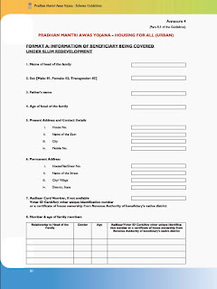 Pradhan Mantri Awas Yojana Application Form PDF