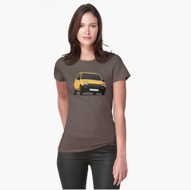 Renault 5 yellow t-shirt redbubble