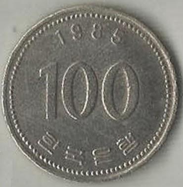 Gambar Uang Koin 100 China Koleksi Uang Kertas Koin Dalam Luar Negeri Uang 100 Won Korea