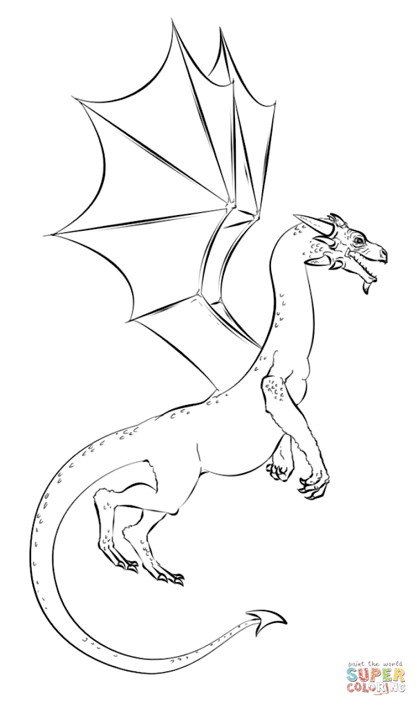 HD Realistic Dragon Coloring Pages Images