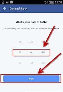 cara daftar akun facebook baru