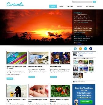 Free Curiumite Stylish WordPress Theme