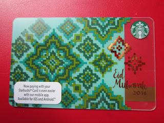 Starbucks Coffee Malaysia card Selamat Hari Raya Eid Mubarak عيد مبارك Muslim New Year Fasting Ramadan Asia