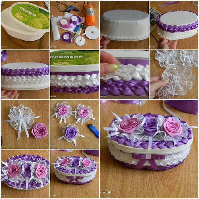 craft ideas for recycled cake box tutorial