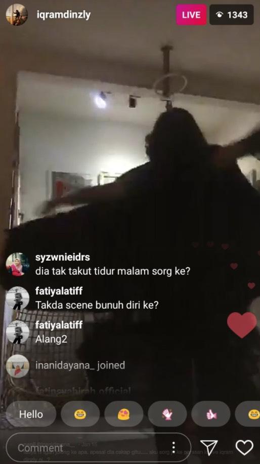 Minta Iqram Dinzly Bunuh Diri Secara Live, Fathia Latiff Dikecam