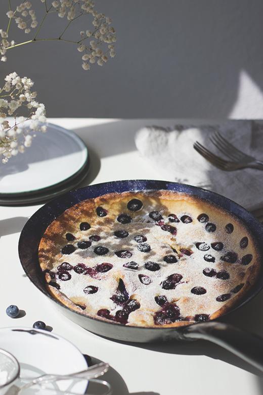 Rezept für Heidelbeer-Buttermilch-Dutchbabe, Ofenpfannkuchen. Holunderweg18, Foodblog