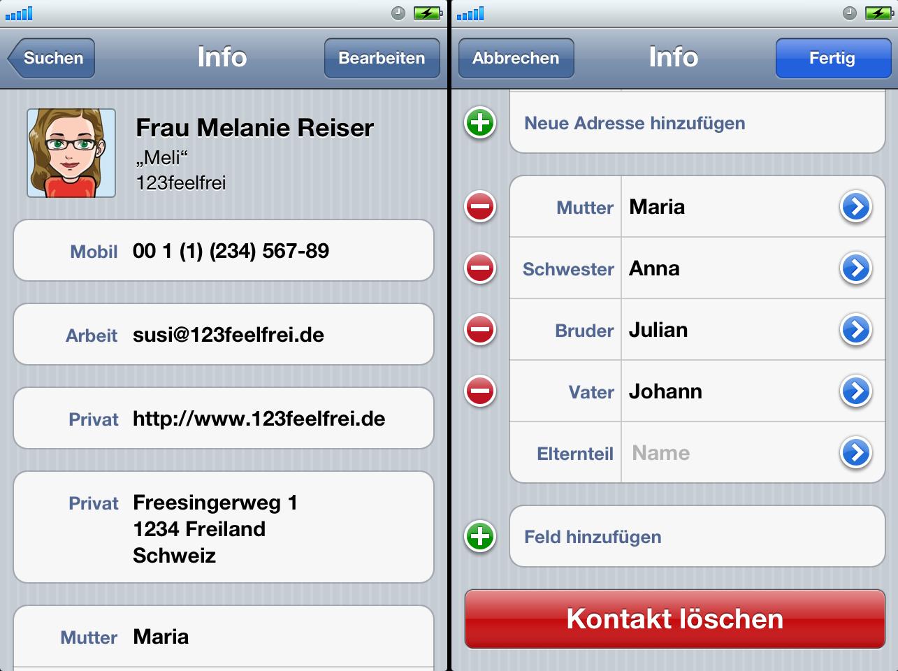 Iphone Kontakte Schnell Löschen