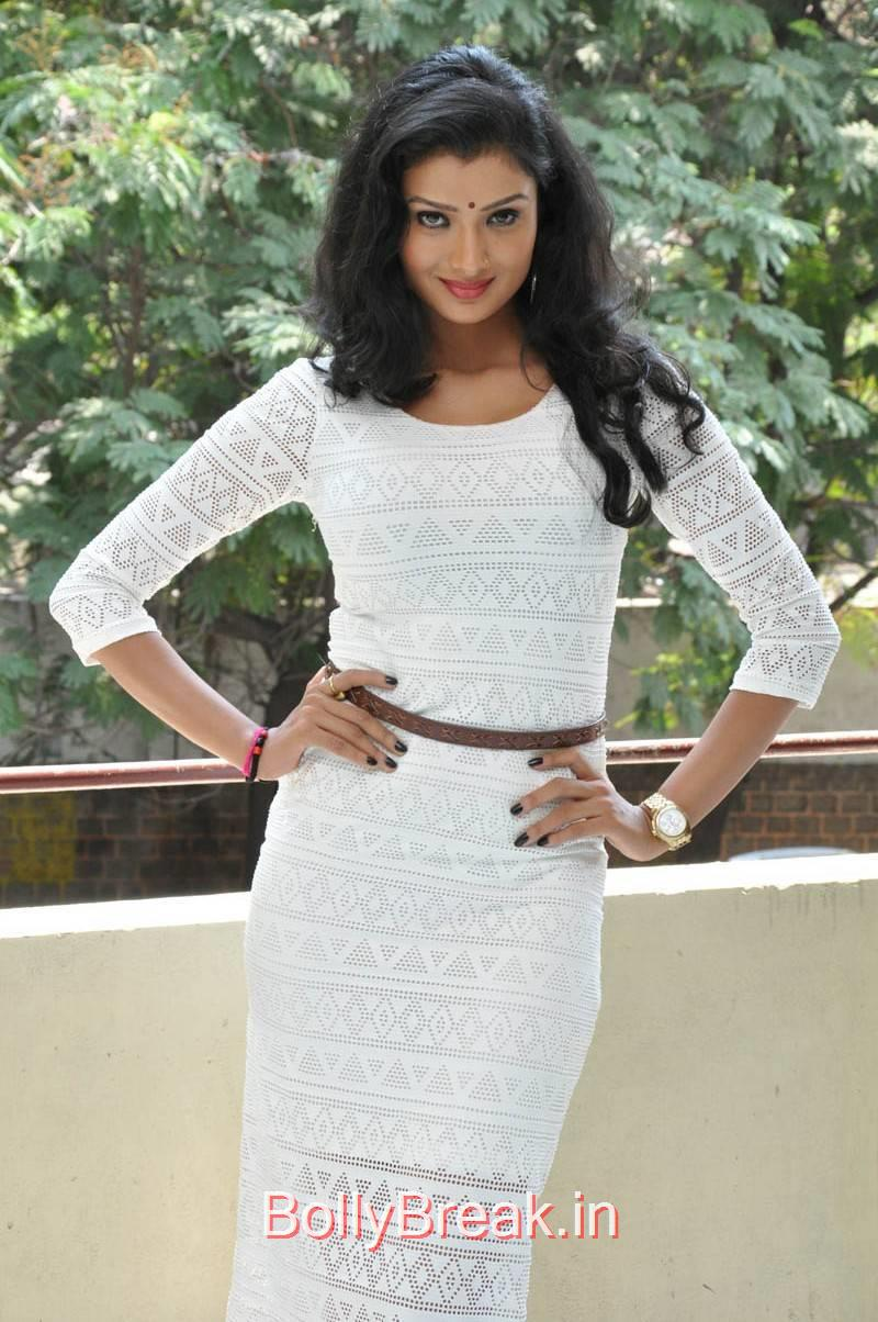 Tollywood Actress Ishita, Actress Ishita Standing Full Size HD Hot Pics in White Dress