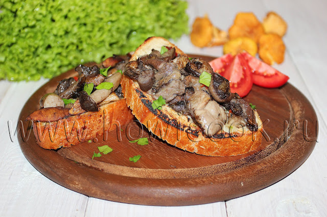 рецепт простого бутерброда с грибами от джейми оливера
