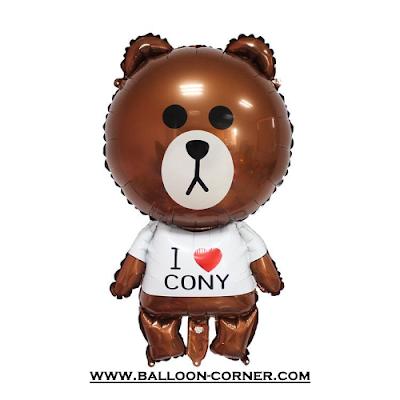 Balon Foil Karakter LINE (Brown)