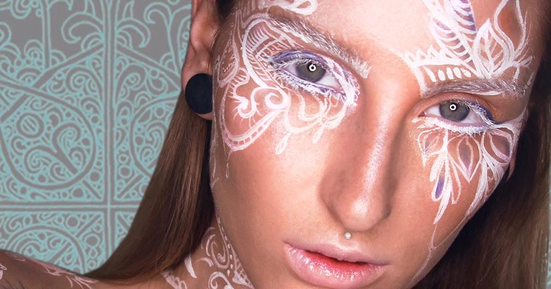 Mehndi Makeup In I : Kristianathe white henna art inspired makeup tutorial