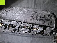 schnüren: FeelinGirl Damen Stäbchen Vintage Vollbrust Corsage Top Schwarz Bustier Mieder Korsett mit Brokat
