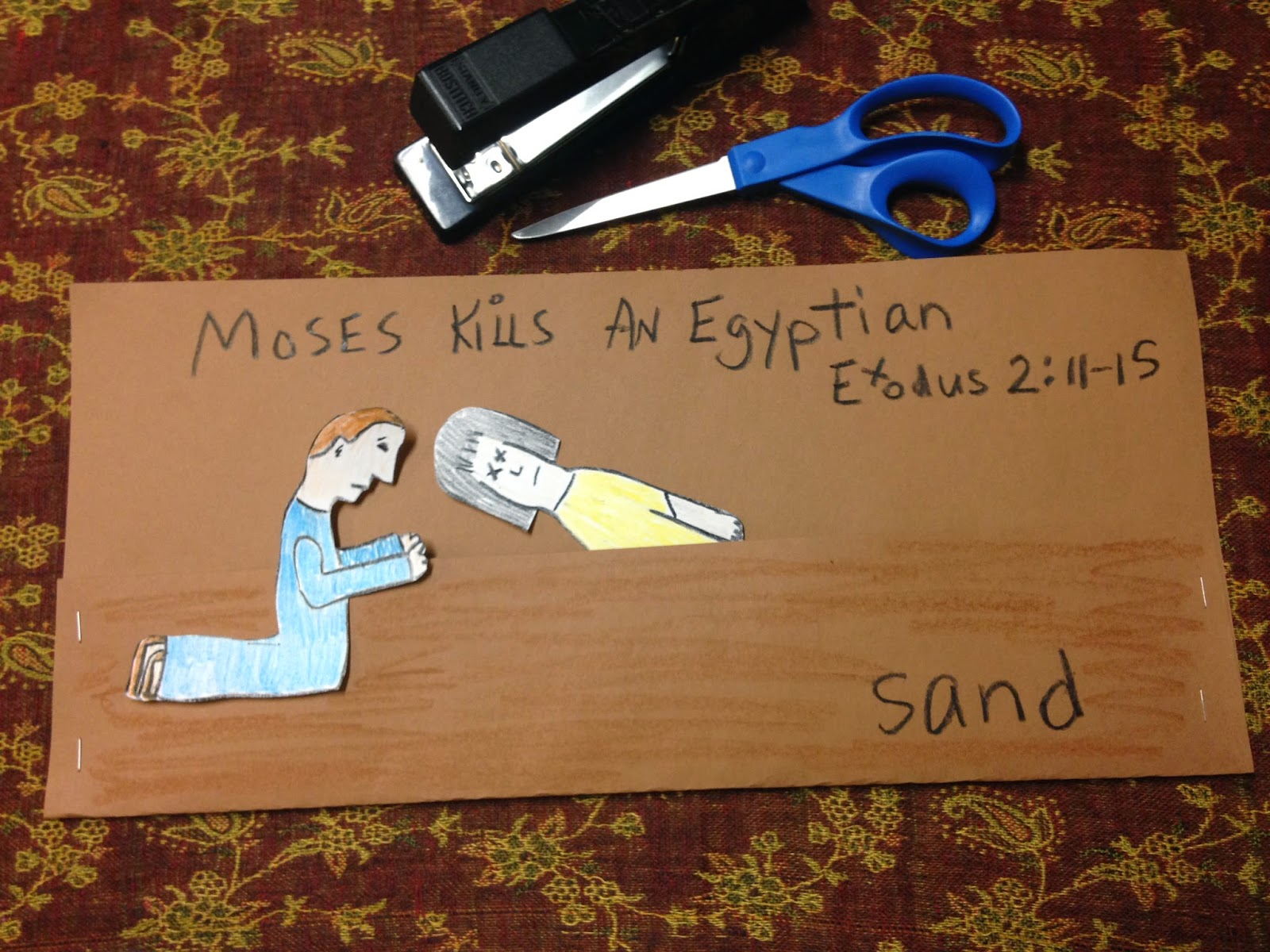 The Moses Kills Egyptian Clip Art Cliparts