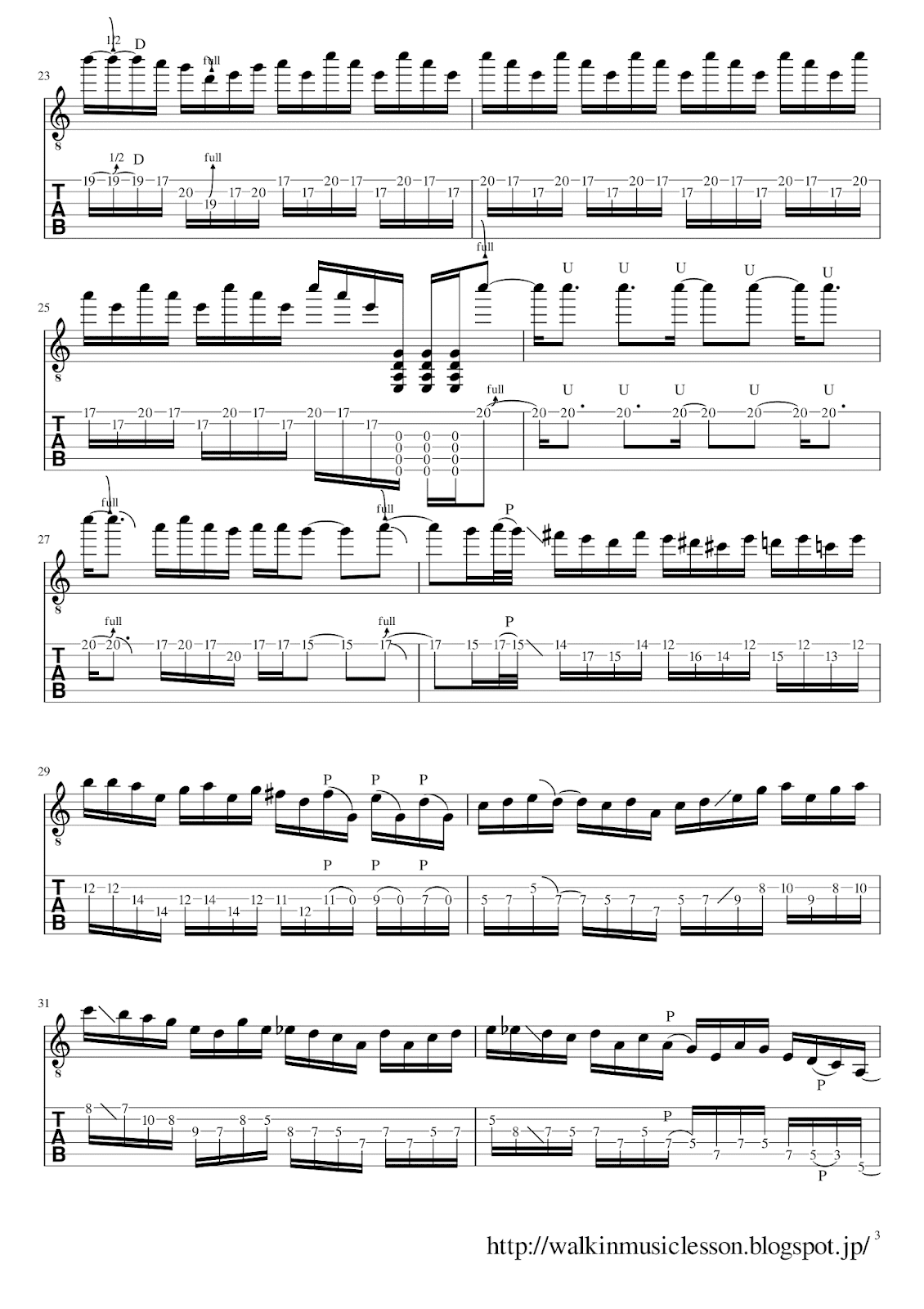 joe bonamassa  guitar solo tab Kickin it 70's Disco Style 3