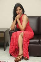 Sakshi Kakkar in Red Legsplit Sleeveless Gown at Dare movie Press meet ~  Exclusive 050.JPG